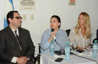 Gabriela Michetti recorrió obras de hábitat en el norte santafesino