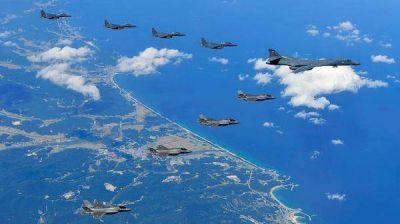 Aviones nucleares de Estados Unidos bombardearon la península coreana en otro ensayo para