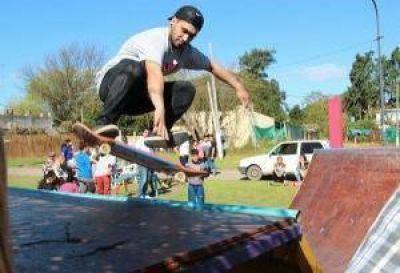Se inauguró el skatepark de la plazoleta Basabe