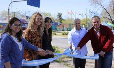 Inauguraron obras de reformas en los espacios públicos del ingreso a Pilar