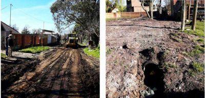 Realizan trabajos de saneamiento en el barrio Jardín de Stella Maris