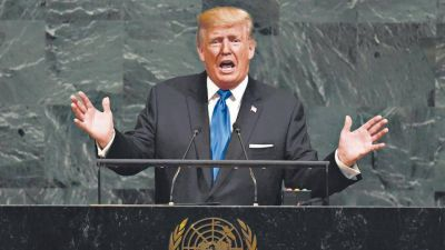 Trump amenazó con aniquilar a Corea del Norte