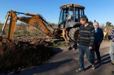 Avanza en Jaime Prats obra de red de agua potable