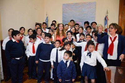 La Gobernadora recibió a alumnos de la Escuela especial