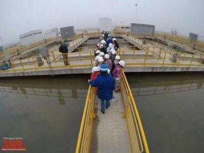 Firmaron contratos para duplicar la capacidad de la Planta Potabilizadora de Bernal