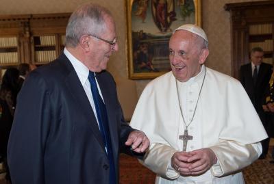 Francisco recibió al presidente del Perú durante 26 minutos