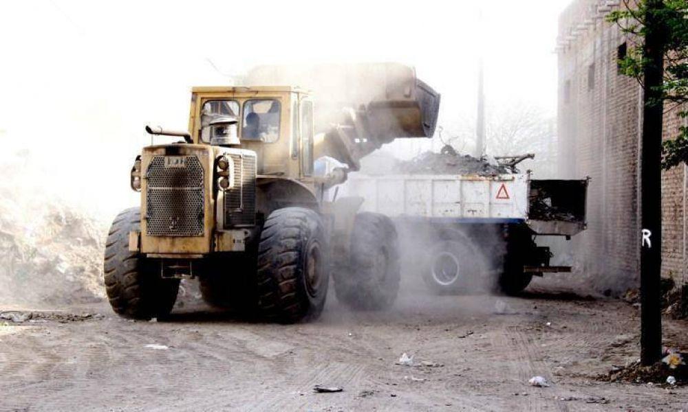 La comuna retira más de 200 toneladas de basura por día en distintos barrios de la ciudad