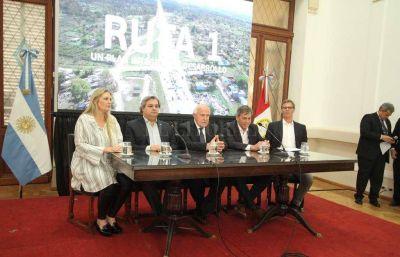 La provincia presentó el plan integral de gasoducto y colectoras de la Ruta 1