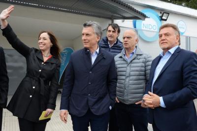 Macri y Vidal inauguraron una planta de tratamiento de efluentes cloacales
