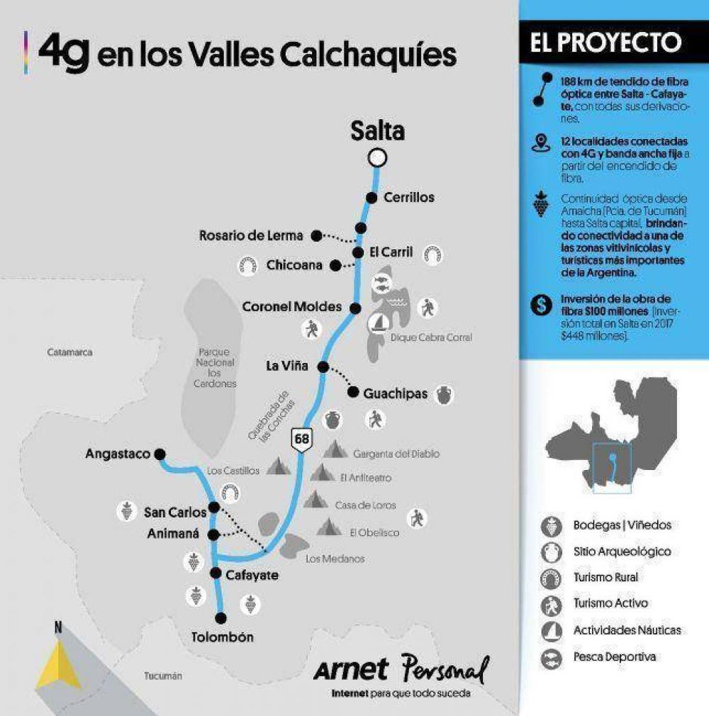 Urtubey inauguró la red 4G de Personal para los valles Calchaquíes
