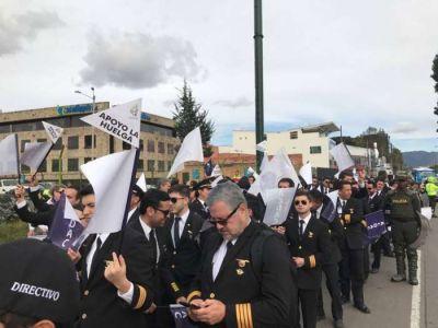 Pilotos argentinos se solidarizaron con conflicto de sus pares de Avianca