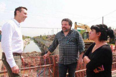 Viñuales recorrió la obra hídrica y los nuevos asfaltos de Santa Marta