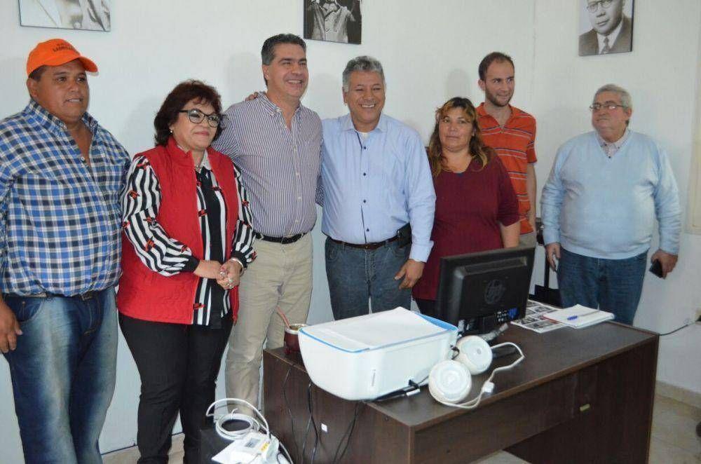 Cáceres y Capitanich inauguraron una Delegación de Ladrilleros en Chaco