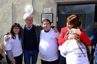 Andreotti compartió el festejo por los 30 años del Taller Protegido