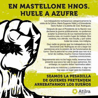 Vidal anunció una visita a La Serenísima y los trabajadores le dijeron que no la quieren