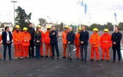 La chicana de Macri y Vidal a Insaurralde al inaugurar un viaducto en Puente La Noria
