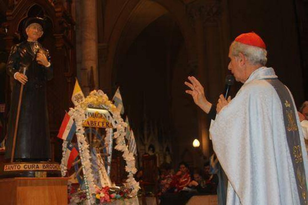 El Cura Brochero se encontró con la Virgen de Luján en la peregrinación