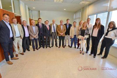 El ministro de Salud recorrió las instalaciones del nuevo edificio de la OSP