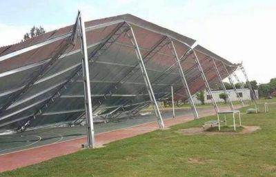 Aída Ayala se despegó del derrumbe del tinglado