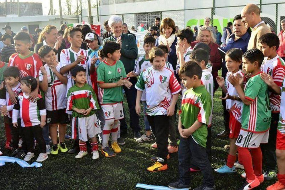 Andreotti inauguró la renovada Escuela de Fútbol San Jorge