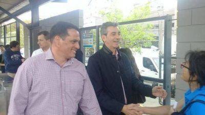 Leandro Martin acompañó a Randazzo en una recorrida por San Isidro