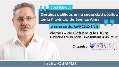 Marcelo Saín brindará una charla sobre seguridad pública en Mar del Plata