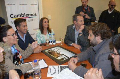 Michetti recibió a la UDUV y visitó el Hogar García Landera