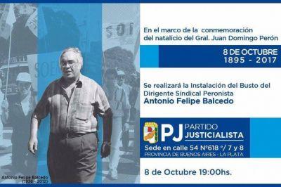 Homenaje a Antonio Felipe Balcedo en el PJ