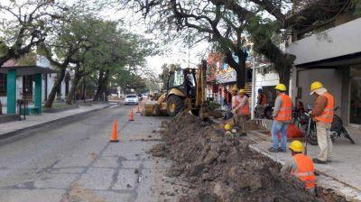 Renuevan red colectora cloacal de calle San Martín