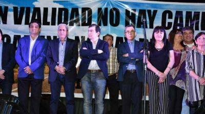 Zamora y Neder acompañaron a los trabajadores viales