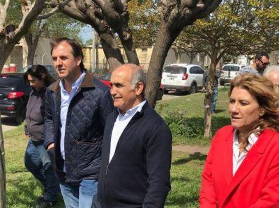 El vicegobernador Salvador timbreó con Erreca