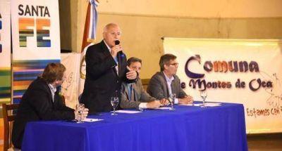 Anunciaron obras hídricas para Montes de Oca