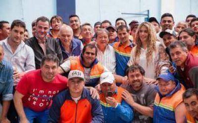 Lanús: Grindetti y Toty Flores se reunieron con barrenderos municipales del distrito