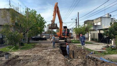 Construyen una red de desagües para mejorar el sistema de drenaje