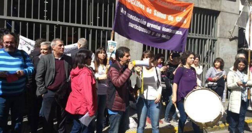 Profesionales de Servicio Social vuelven a movilizar contra la persecución sindical de Larreta