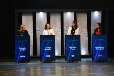 Las candidatas a diputadas discutieron sin inhibiciones en