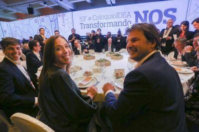 Vidal llevó la campaña al Coloquio de Idea y le apuntó a la