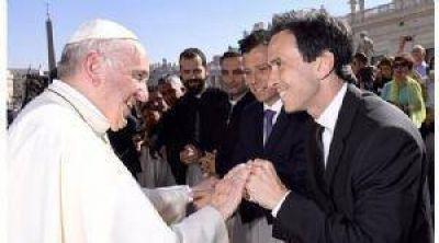 Neuspiller, en una audiencia con el Papa