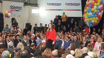 Vidal compartió un acto con los candidatos de Cambiemos