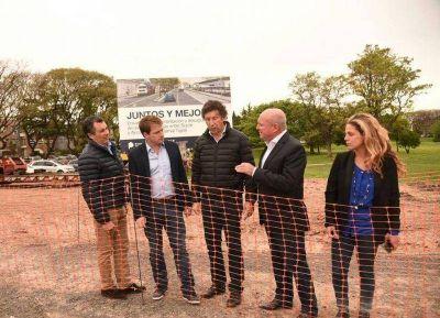 Hugo Oroño supervisó el avance de las obras de asfalto en San Isidro y San Fernando