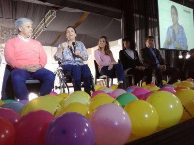 La vice Michetti encabezó un acto de campaña del PRO