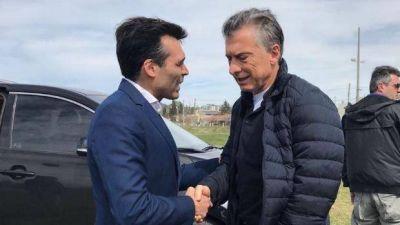 Facundo López recibió al presidente Mauricio Macri en su paso por Necochea