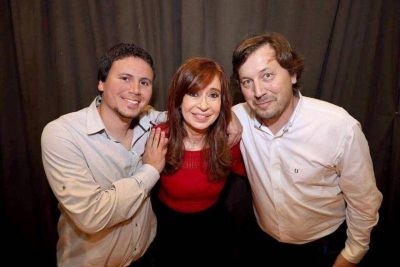 Aguilera y Santellán se mostraron con Cristina Kirchner