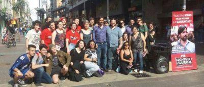 Del Caño visitó Mar del Plata en la recta final de la campaña electoral