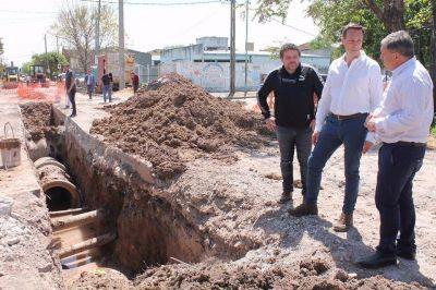 Avanzan las obras hídricas en Las Tropas y luego asfaltarán