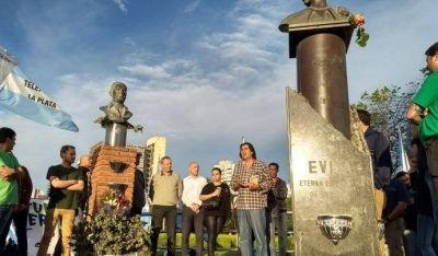 La Juventud Sindical Peronista de La Plata homenajeó a Perón y Evita