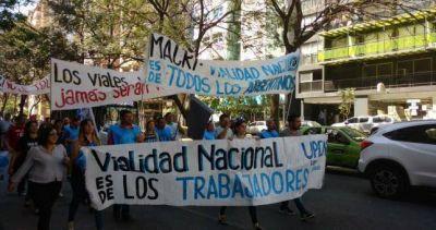 Trabajadores de Vialidad movilizaron en Córdoba contra la privatización del organismo