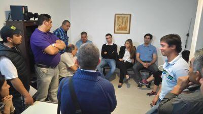 La CGT Regional Zona Atlántica se reunió con María Emilia Soria