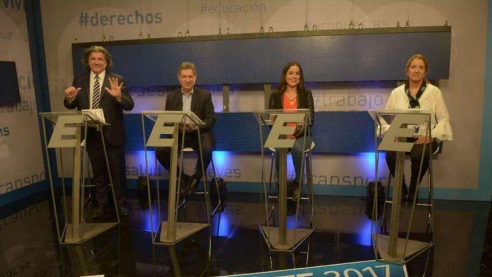 Los candidatos cerraron la campaña con un debate