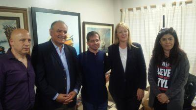 Stolbizer con Maldonado, Ávalos y Pirillo en el Sindicato de Municipales de Vicente López